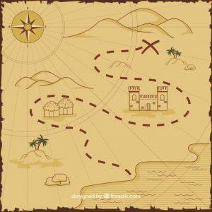 mappa con percorso per il tesoro del pirata 23 2147626884