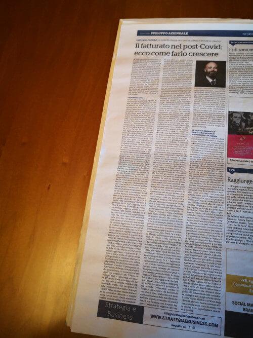 La pagina de La Repubblica del 3/10/2020 con l'articolo completo su di me.
